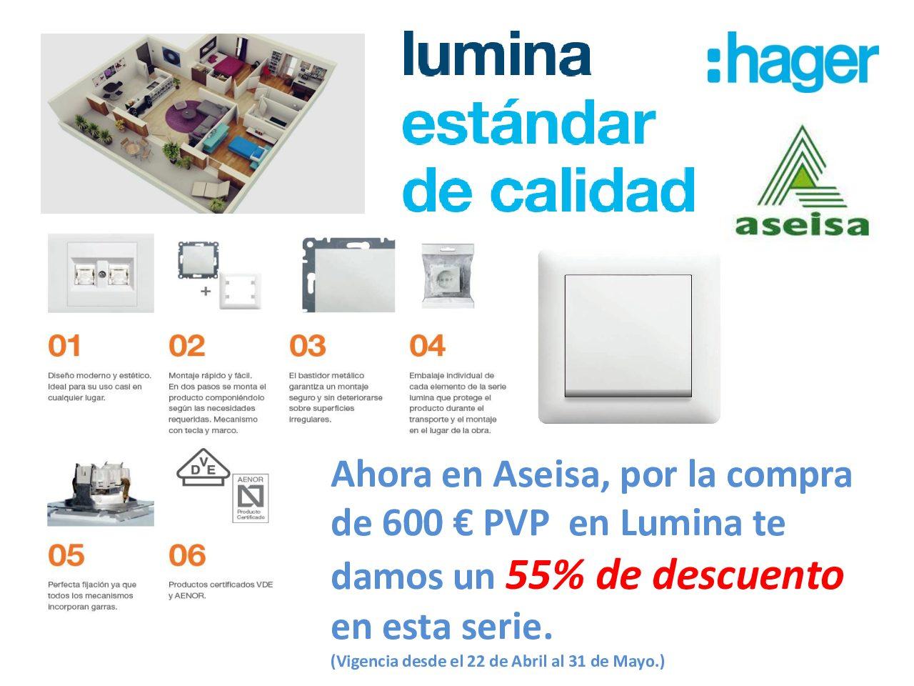 PROMOCIÓN SERIE LUMINA DE HAGER - ASEISA