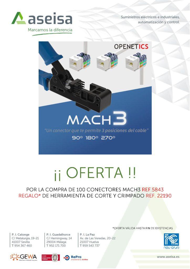 REGALO HERRAMIENTA DE CORTE POR LA COMPRA DE 100 CONECTORES OPENETICS Ref.- 5843 - ASEISA